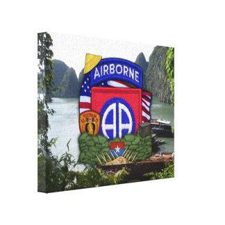 82nd airborne division vietnam war veterans vets canvas print