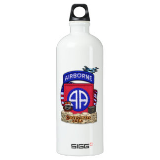 82nd airborne division war veterans vets water Bot Aluminum Water Bottle