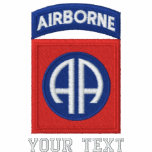 82nd Airborne Embroidered Polo Shirts