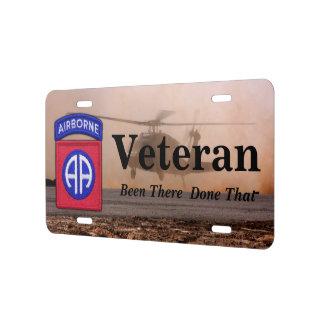 82nd airborne fort bragg veterans vets license plate