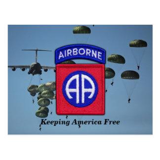 82nd airborne fort Bragg veterans vets LRRPS recon Postcard