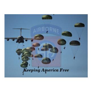 82nd airborne fort Bragg veterans vets patch Postcard
