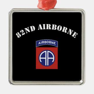 82nd Airborne Insignia Metal Ornament
