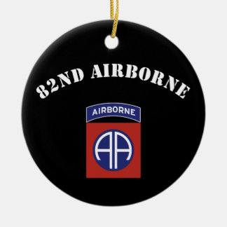 82nd Airborne Insignia Double-Sided Ceramic Round Christmas Ornament