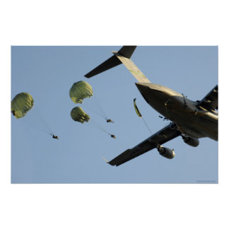 82nd Airborne jump from C-17 Poster