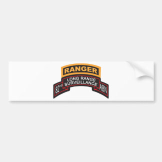 82nd Airborne LRS Scroll, Ranger Tab Bumper Stickers