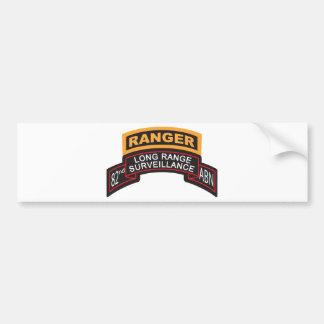 82nd Airborne LRS Scroll, Ranger Tab Bumper Sticker