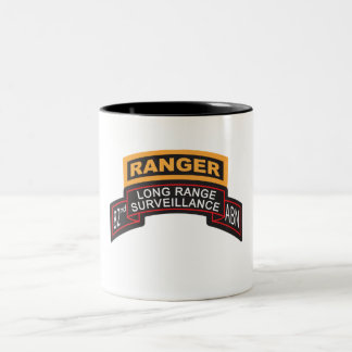 82nd Airborne LRS Scroll, Ranger Tab Two-Tone Coffee Mug