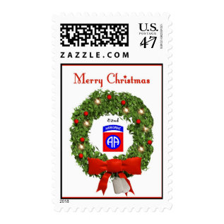 82nd Airborne Military Christmas Postage Stamps at Zazzle