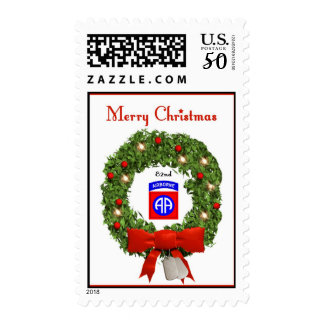 82nd Airborne Military Christmas Postage Stamps
