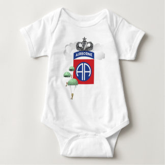 82nd Airborne, Paratroopers, Senior Jump Wings Baby Bodysuit