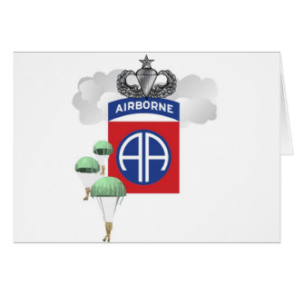 82nd Airborne, Paratroopers, Senior Jump Wings Card