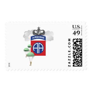 82nd Airborne, Paratroopers, Senior Jump Wings Postage Stamps