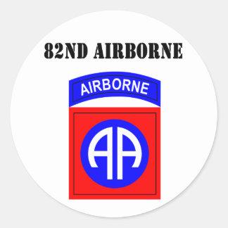 82nd Airborne Round Sticker
