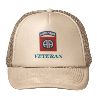 82nd airborne veteran unit flash iraq patch vietna trucker hat