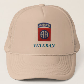 82nd airborne veteran unit flash iraq patch vietna trucker hat