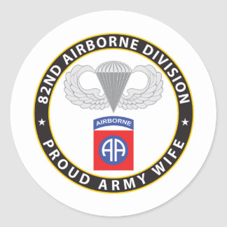 82nd Airborne Wife Stickers