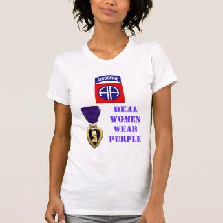82nd AIRBORNE WOMEN WEAR PURPLE Tshirt