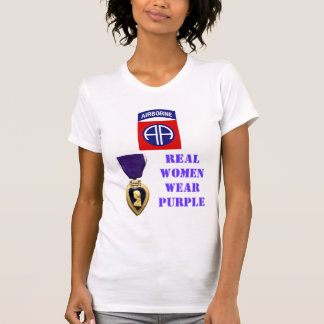 82nd AIRBORNE WOMEN WEAR PURPLE Tshirts