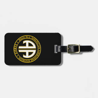 82nd All American Airborne Ranger Casual Patch Luggage Tag