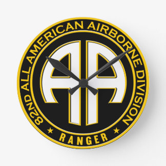 82nd All American Airborne Ranger Casual Patch Round Clock