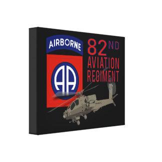 82nd Aviation Regiment Apache Stretched Canvas Print
