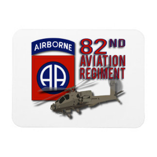 82nd Aviation Regiment Apache Rectangle Magnet