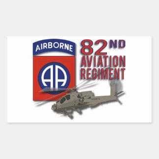 82nd Aviation Regiment Apache Rectangular Sticker