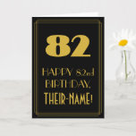 """[ Thumbnail: 82nd Birthday – Art Deco Inspired Look """"82"""" & Name Card ]"""