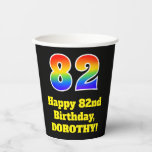 [ Thumbnail: 82nd Birthday: Colorful, Fun, Exciting, Rainbow 82 ]