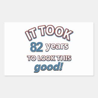 82nd birthday designs stickers
