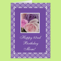 82nd birthday roses (change age) card
