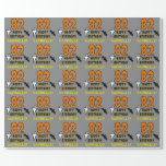 [ Thumbnail: 82nd Birthday: Spooky Halloween Theme, Custom Name Wrapping Paper ]