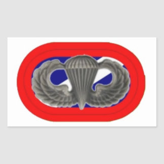 82ND SUPPORT BATTALION JUMP WINGS/OVAL STICKERS
