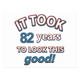 82nd year birthday designs post cards