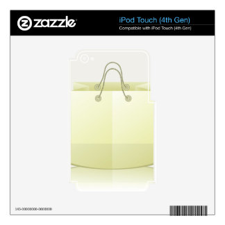 82Paper Shopping Bag_rasterized Skin For iPod Touch 4G