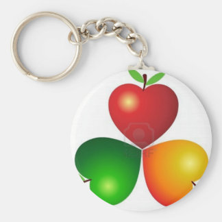 8305463-illustration-art-heart-apples-with-isolate basic round button keychain