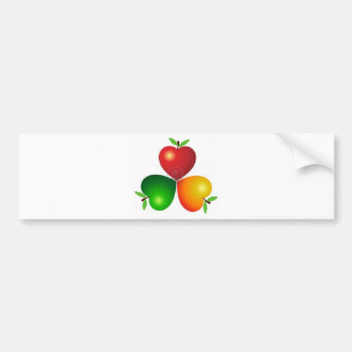 8305463-illustration-art-heart-apples-with-isolate car bumper sticker