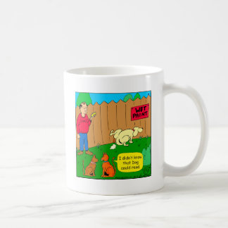 830 dog can read cartoon coffee mug