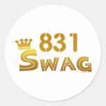 831 California Swag Round Stickers