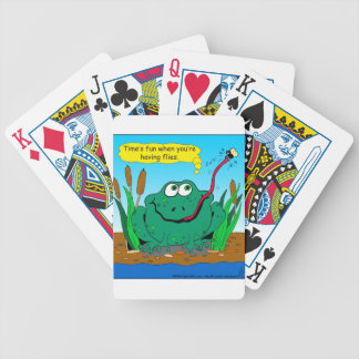 833 time flies cartoon bicycle playing cards