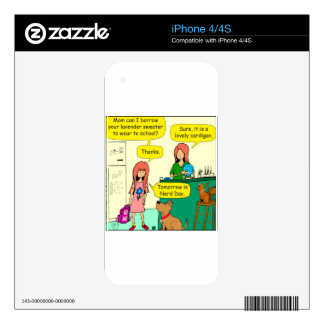 834 nerd day cartoon skins for the iPhone 4S