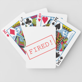 835569 FIRED WORK UNEMPLOYMENT SHOUT BICYCLE PLAYING CARDS