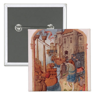 8378 Velin 745 f.1 Knights on horseback, c.1350's Button
