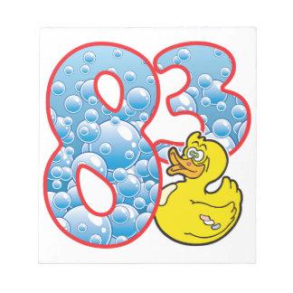 83 Age Duck Memo Note Pad