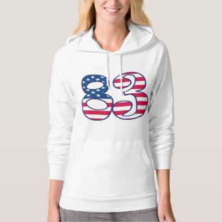 83 Age USA Hooded Pullovers