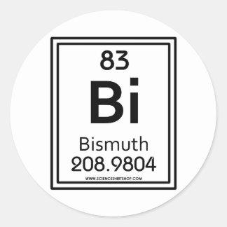 83 Bismuth Classic Round Sticker
