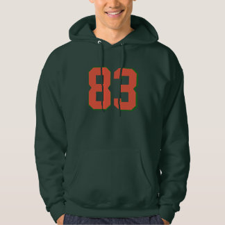 83 customize to favorite number Hoodie tee design