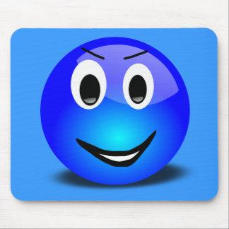 83-Free-3d-Grinning-Blue-Smiley-Face-Clipart-Illus Alfombrilla De Raton
