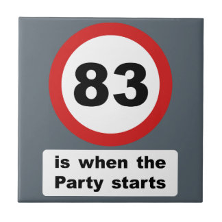 83 is when the Party Starts Tile